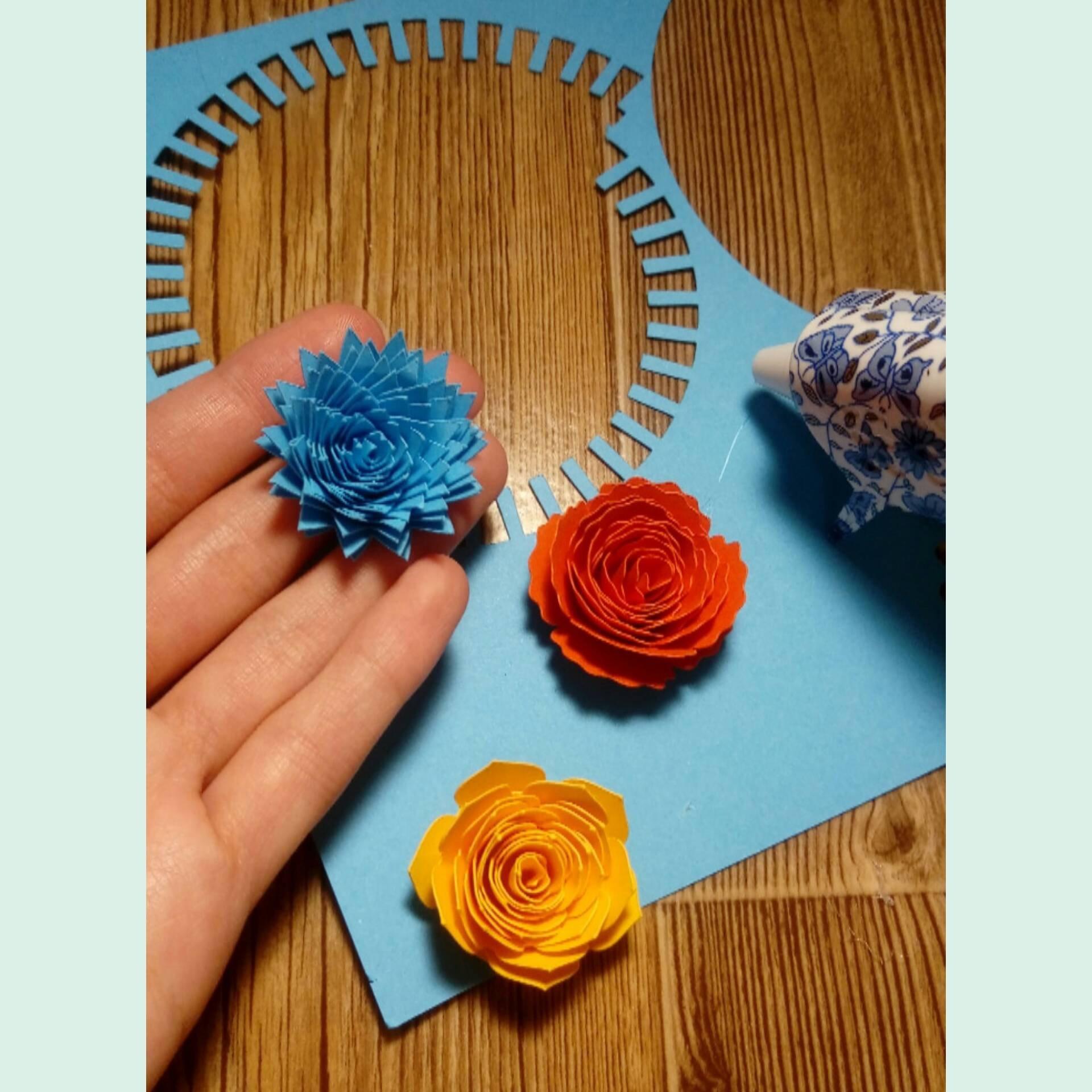 Rolled Flower svg, 3d flower svg, Paper Flower svg example image 3