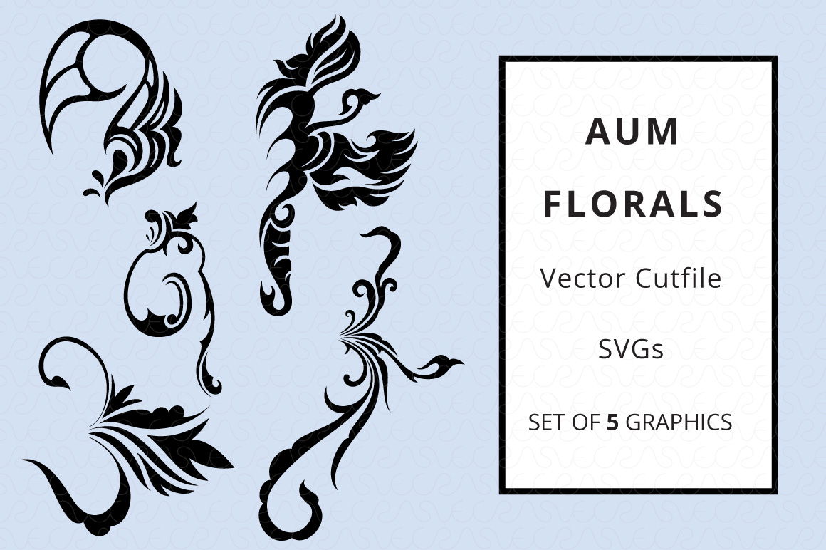 SVG Florals Cutfiles Bundle Pack of 270 vector graphic shape example image 26