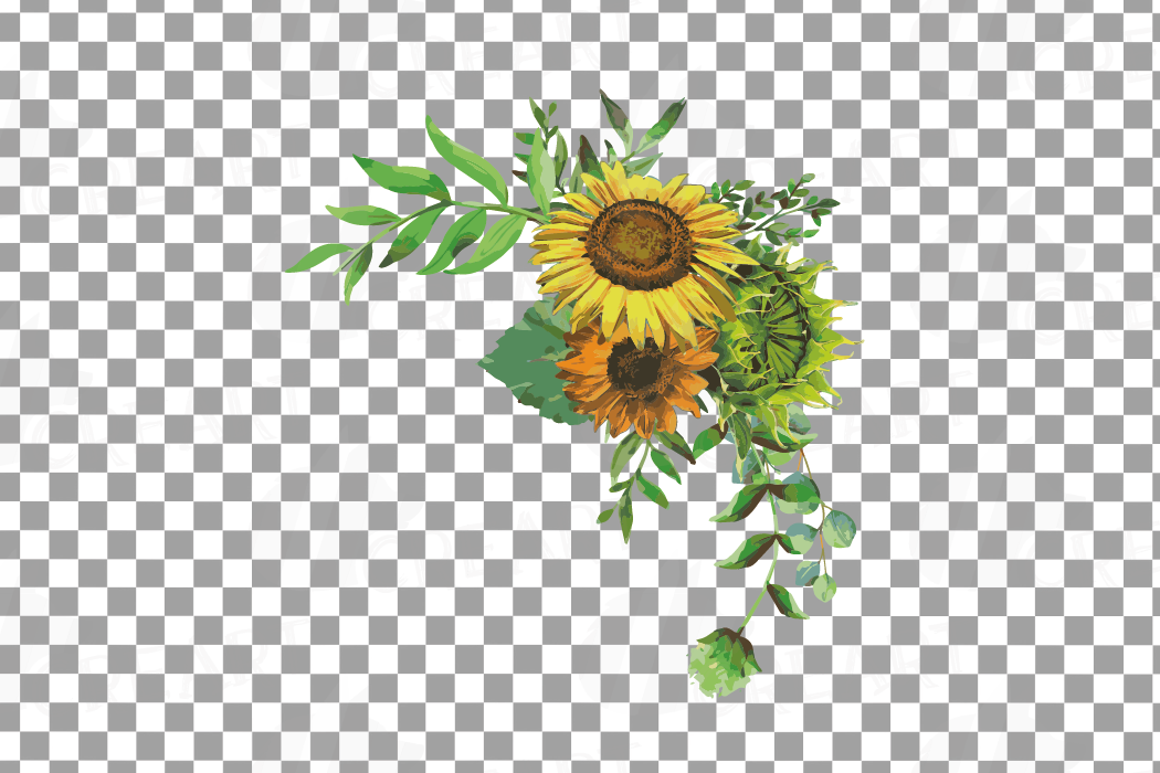 Watercolor sunflower bouquets and design elements example image 16