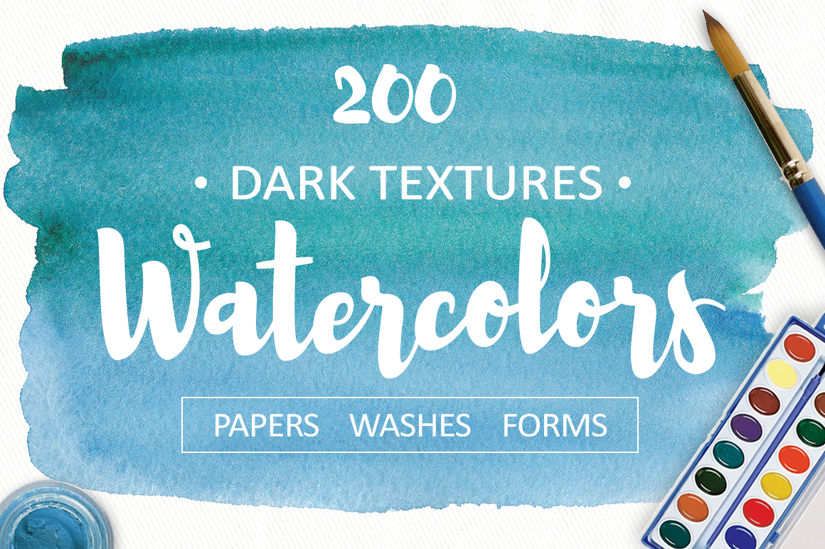 200 watercolor textures and backgrounds. Superbundle! example image 1