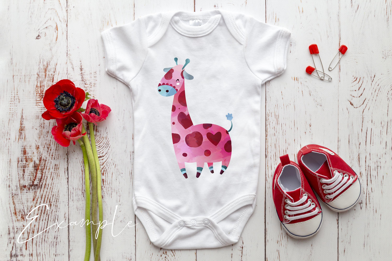 Onesie, Infant bodysuit Mockup example image 2