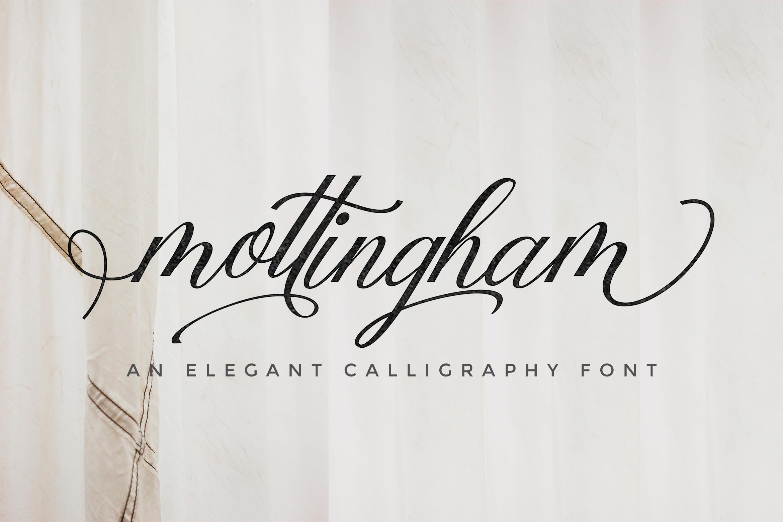 Mottingham Elegant Calligraphy Typeface example image 1
