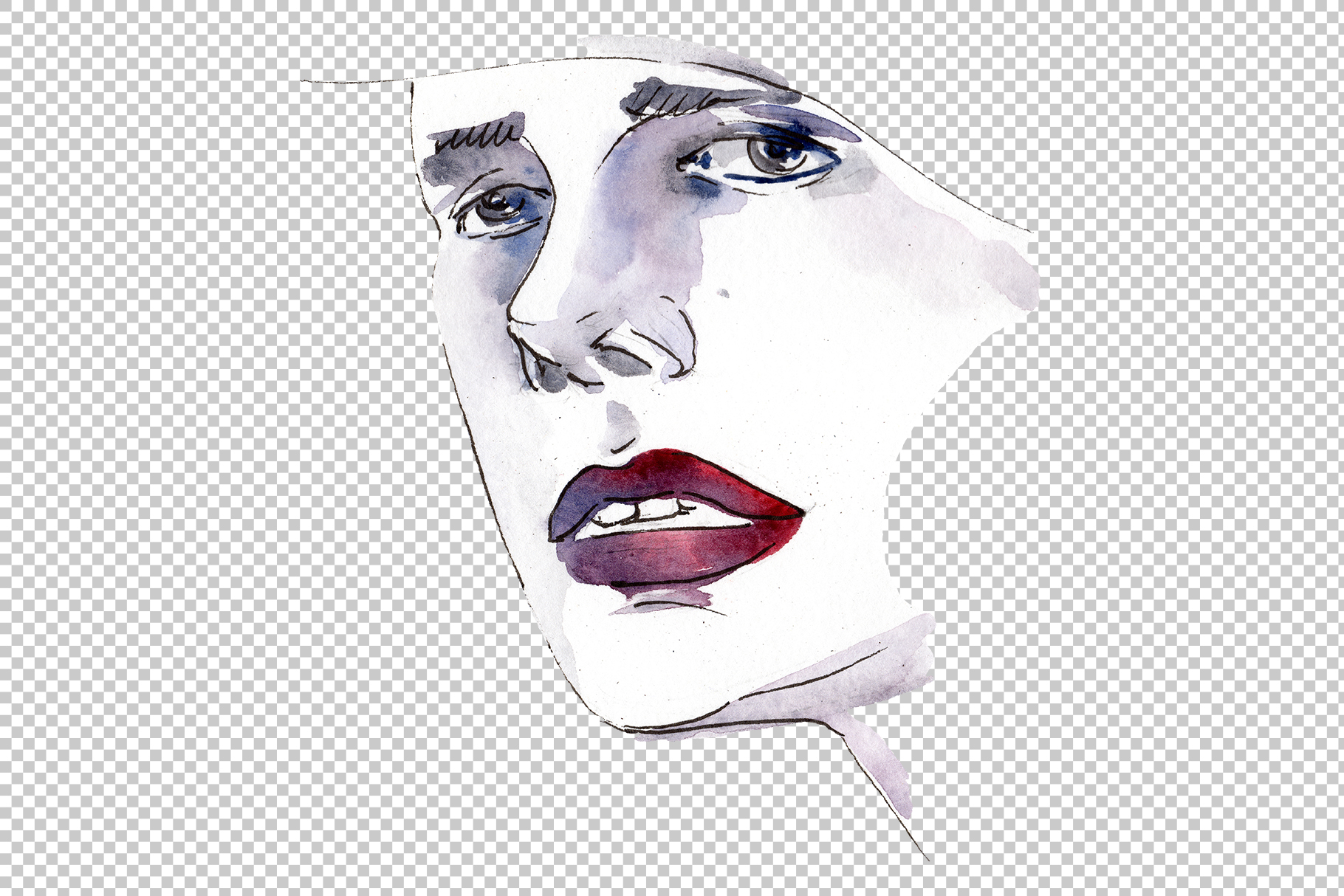 Fashion trends Watercolor png example image 5