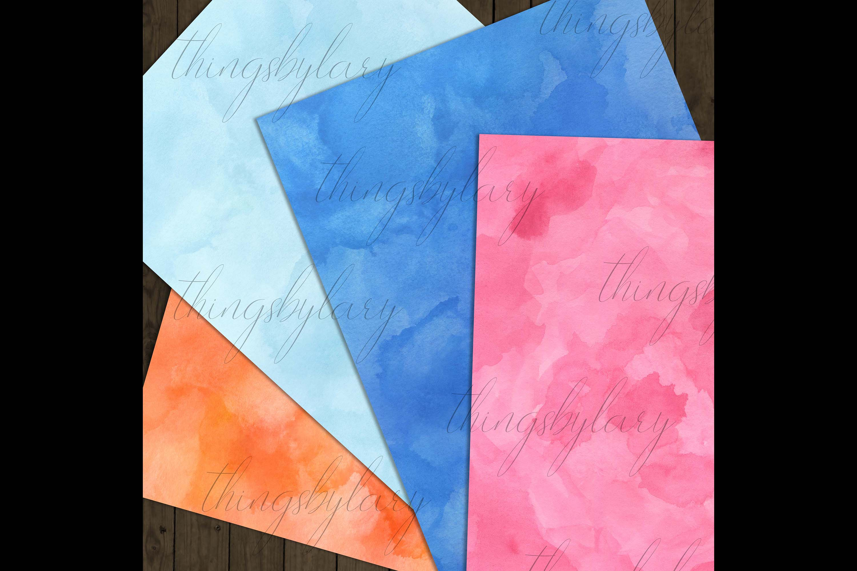 18 Sweet Ombre Watercolor Digital Images Card Invitation example image 9