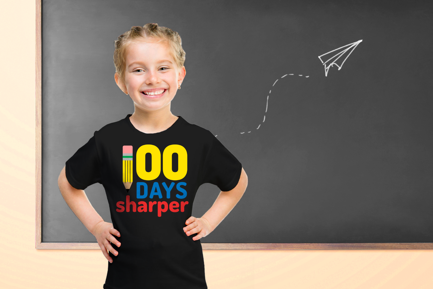 School 100 Days Sharper Pencil SVG File Cutting Template example image 1