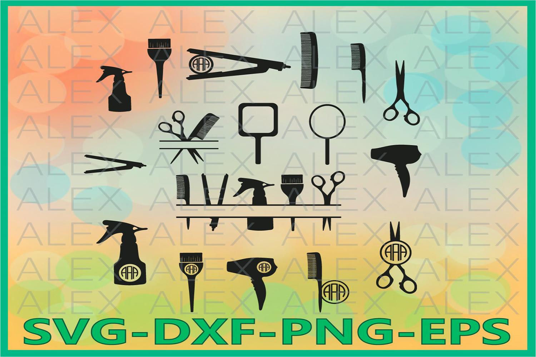 Hairdresser SVG, Hairstylist SVG, Hairdresser Monogram example image 1