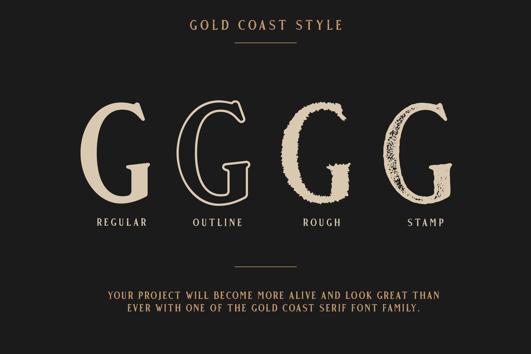 Gold Coast - Vintage Serif Bonus Logo example image 8