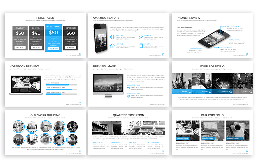 Clear Powerpoint Template example image 4