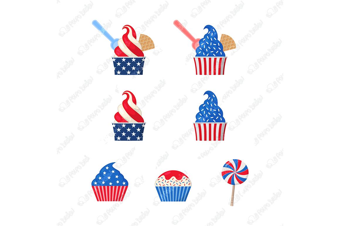 Patriotic Ice Cream clip art example image 3