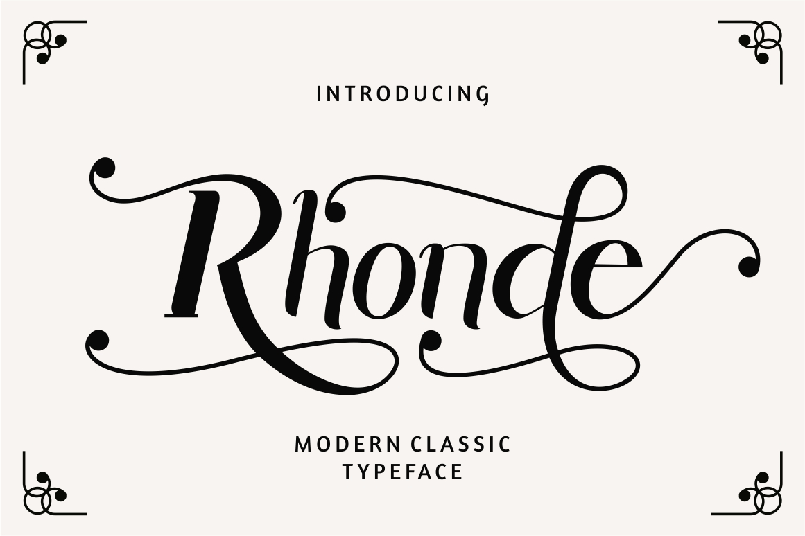 Rhonde - Modern Classic Font example image 1