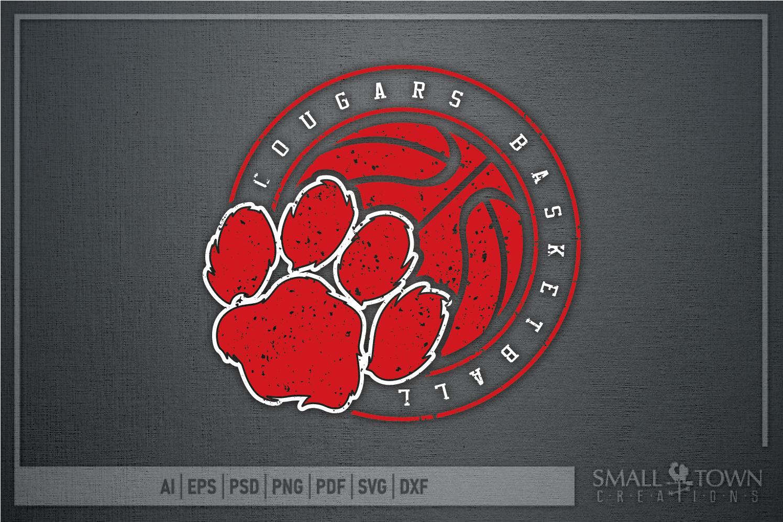 Cougar basketball, Cougars mascot, PRINT, CUT, DESIGN example image 10
