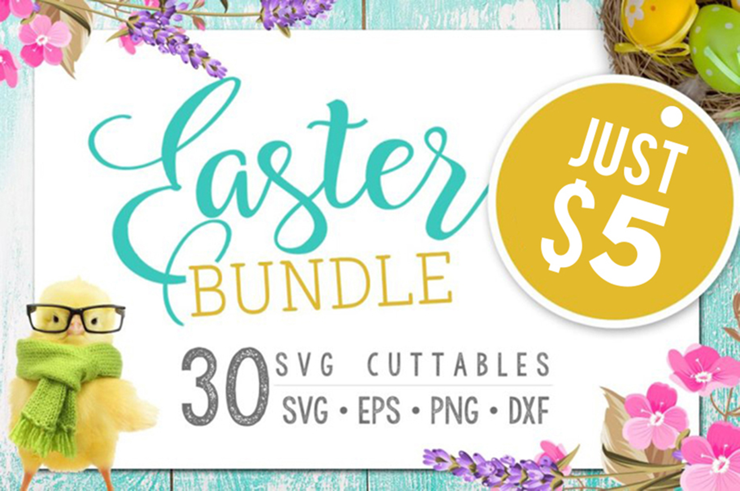 Easter Bundle - 30 Easter SVG files Bundle Easter SVG file example image 1