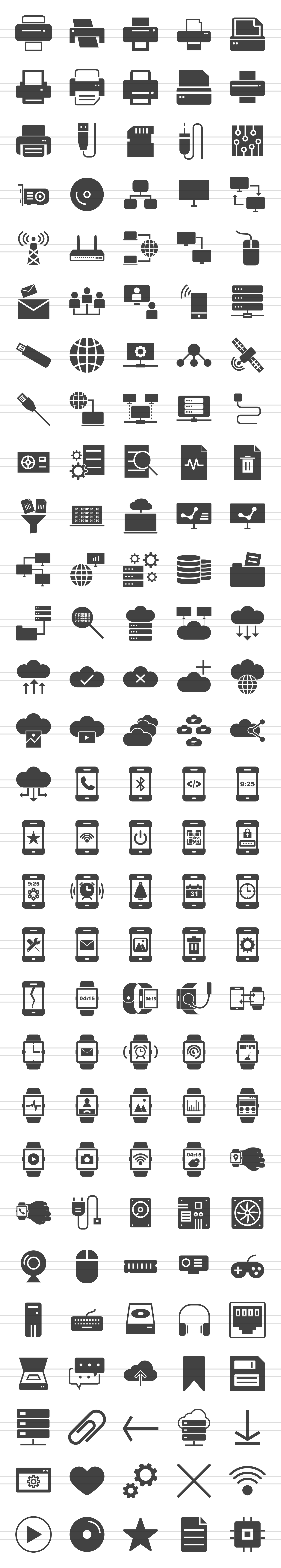 166 Hardware Glyph Icons example image 2
