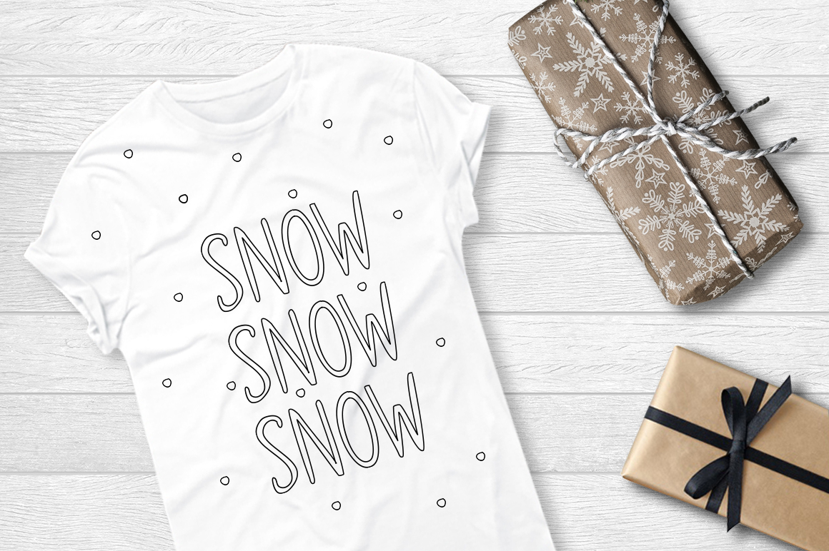 SNOWLAND - hand drawn winter font example image 6