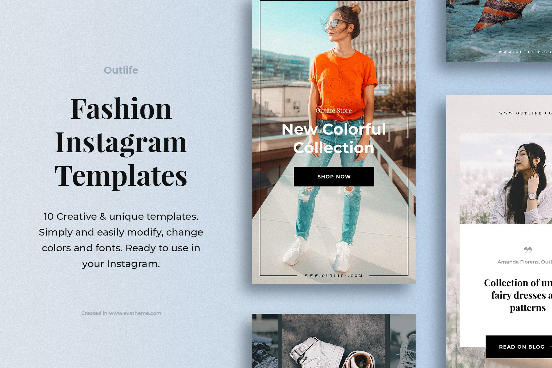 Outlife Fashion Instagram Templates example image 1