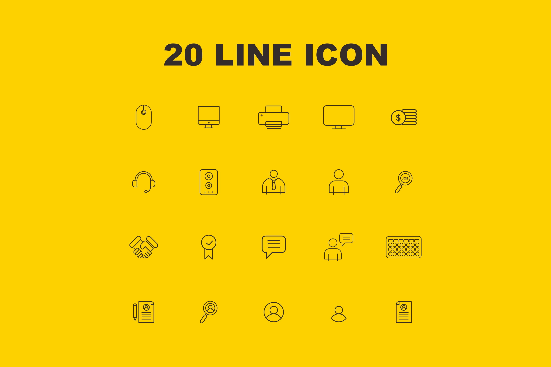 20 Line Icon example image 3