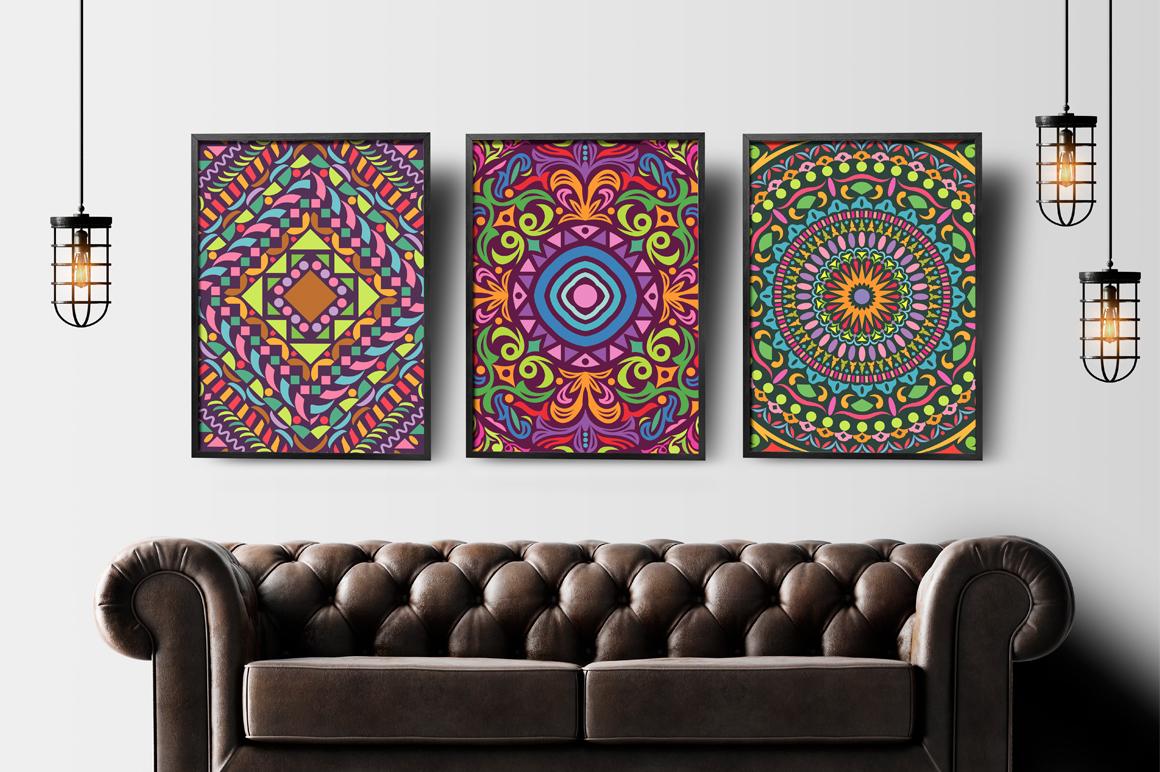 Colorful Mandala Abstract Geometric example image 4