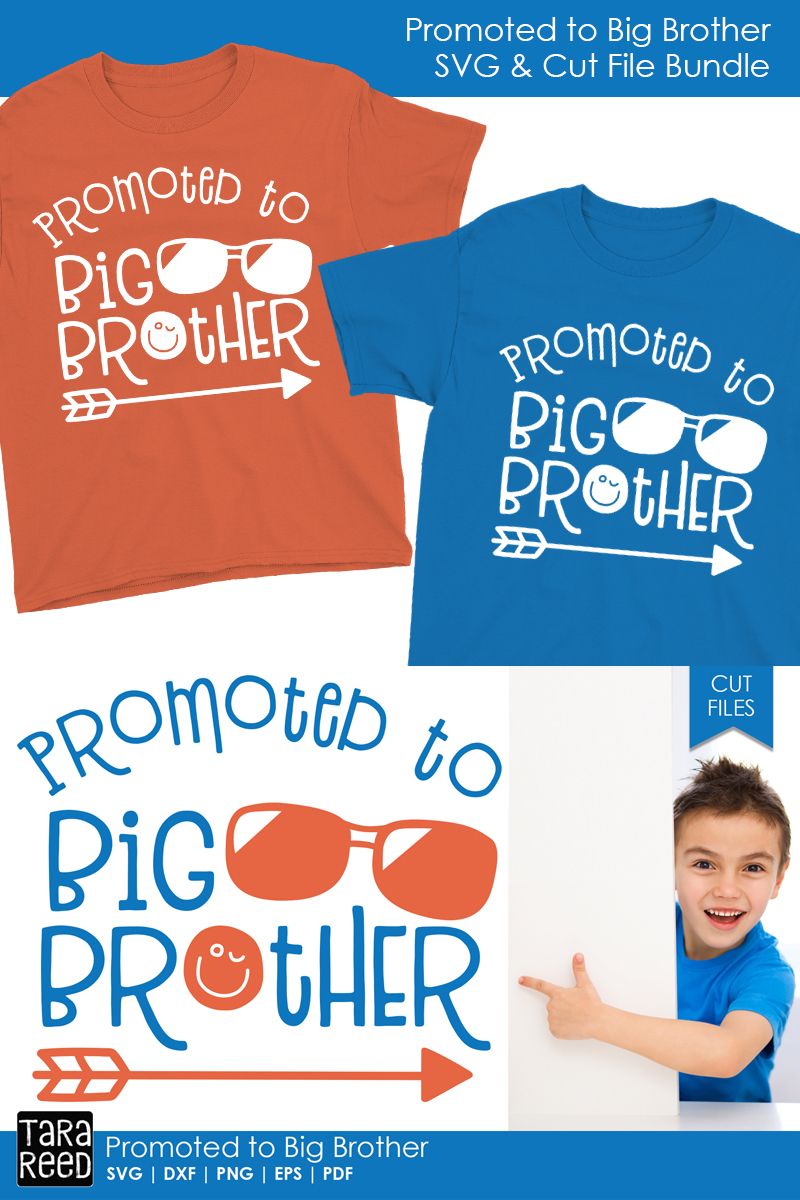 Promoted to Big Brother - Family SVG and Cut Files example image 2