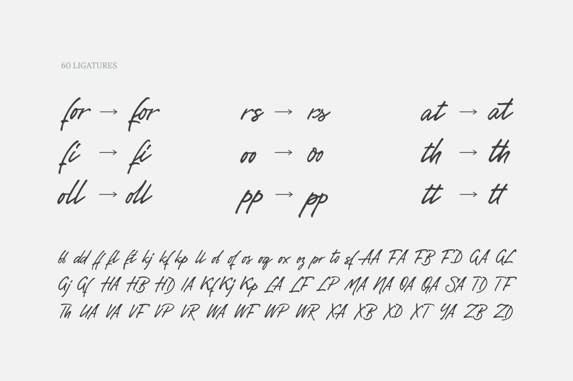 Gentlemen's Script example image 7