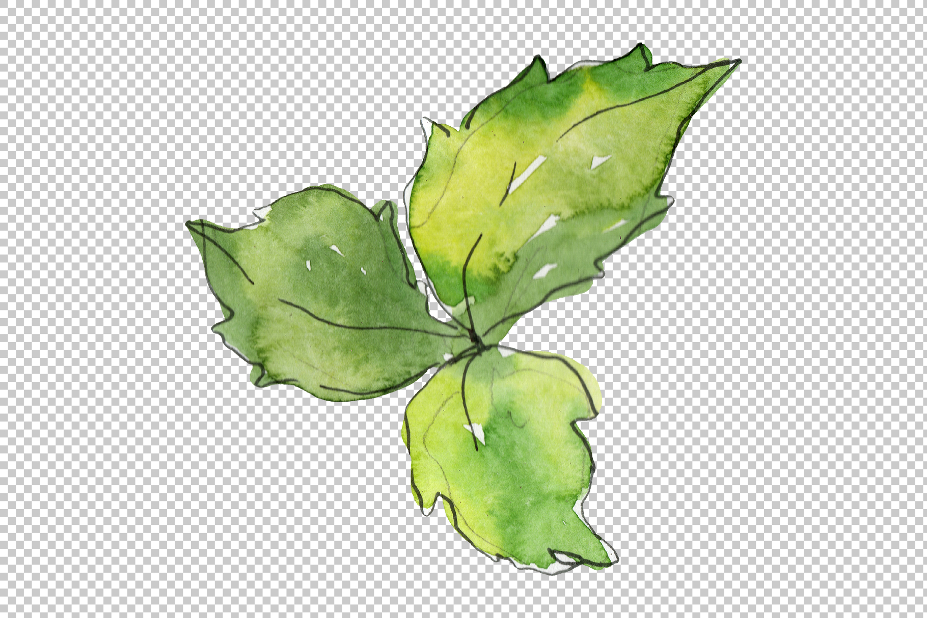 Pizza vegetable Watercolor png example image 4