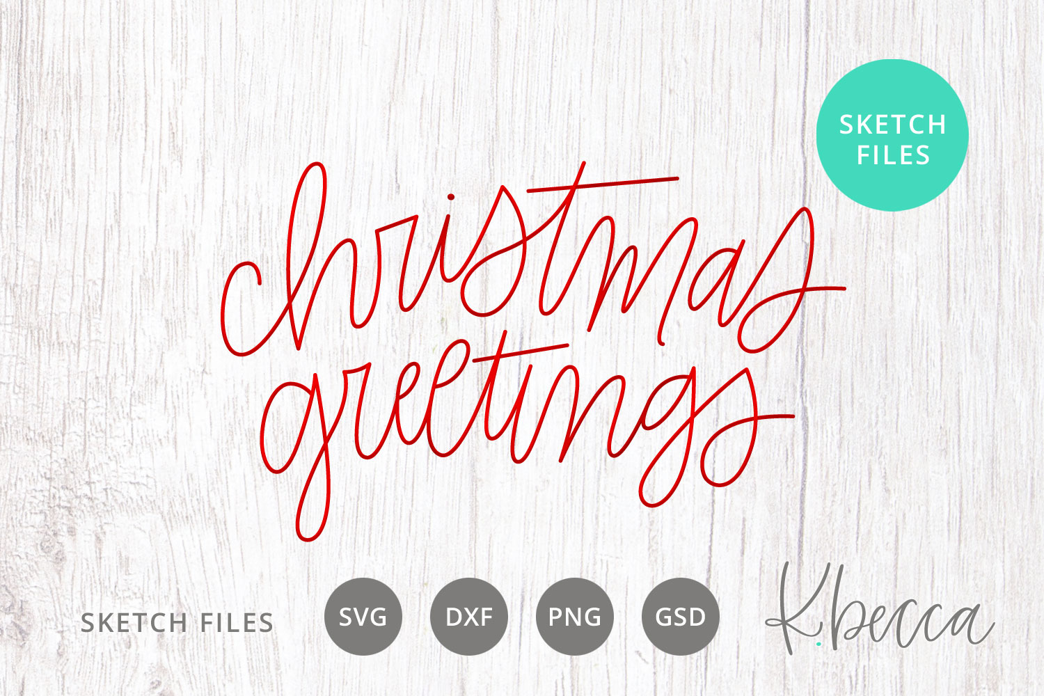 Foil Quill Sketch Christmas Greetings SVG example image 1