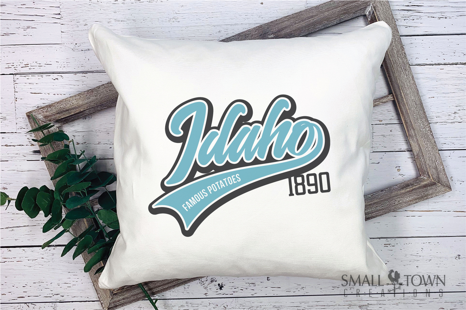 Idaho, Famous Potatoes- slogan, Logo, PRINT, CUT & DESIGN example image 7