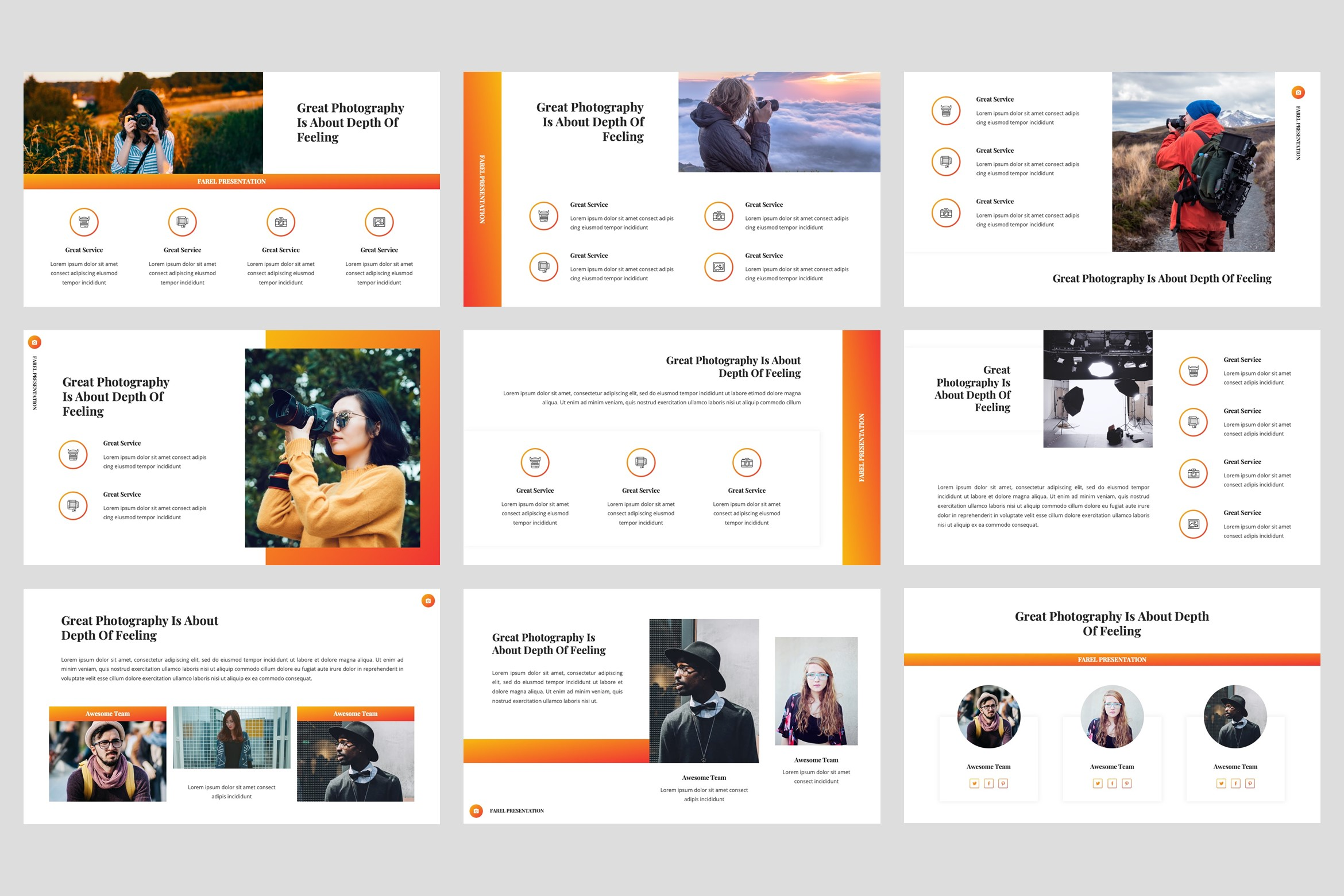Farel - Photography PowerPoint Template example image 3