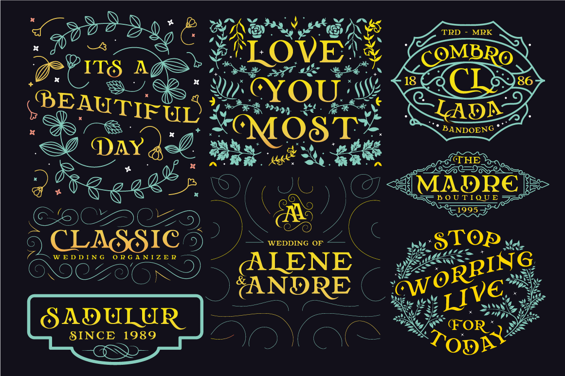 Relove Typeface + Extras example image 2