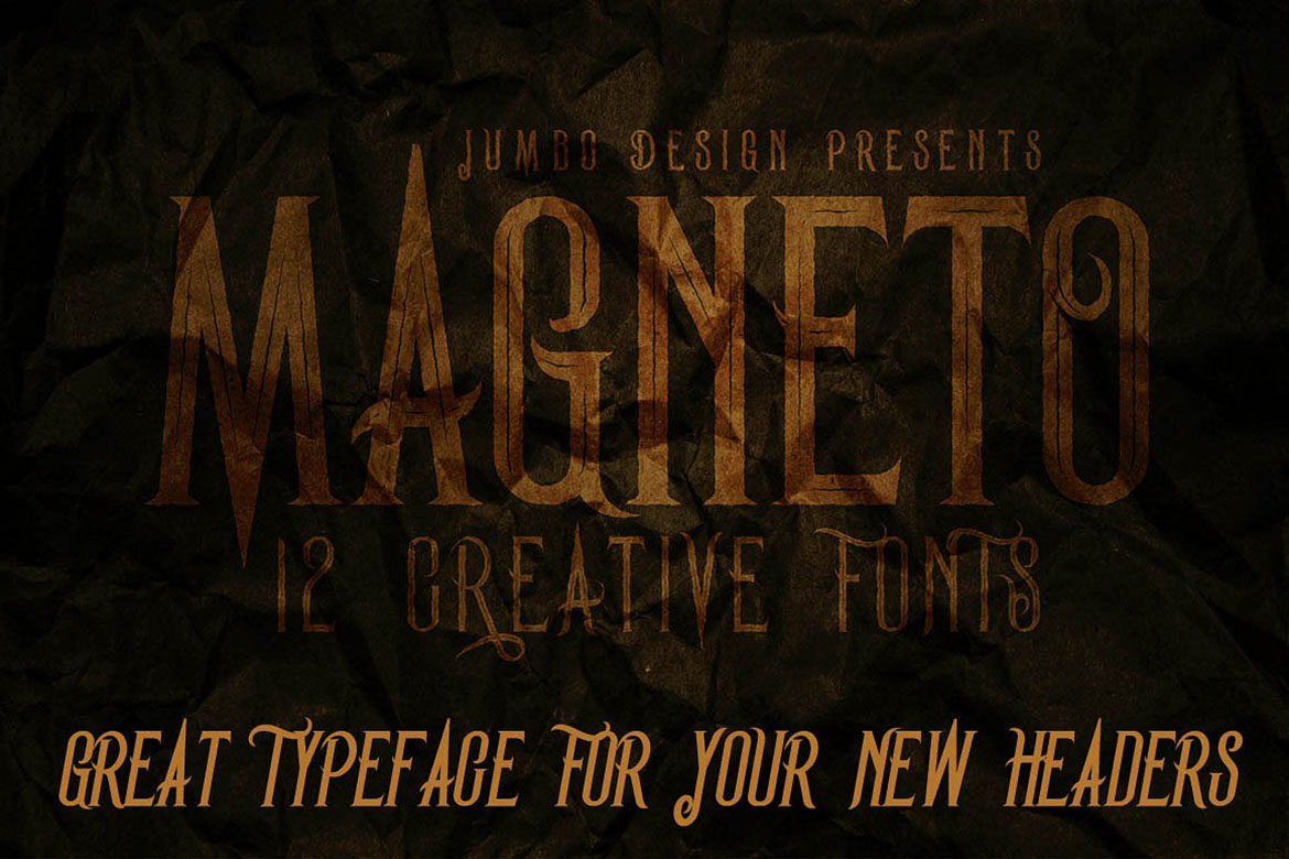 Magneto - Vintage Style Font example image 2