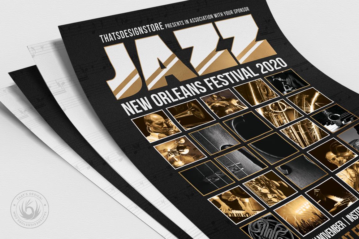 Jazz Festival Flyer Template V9 example image 5
