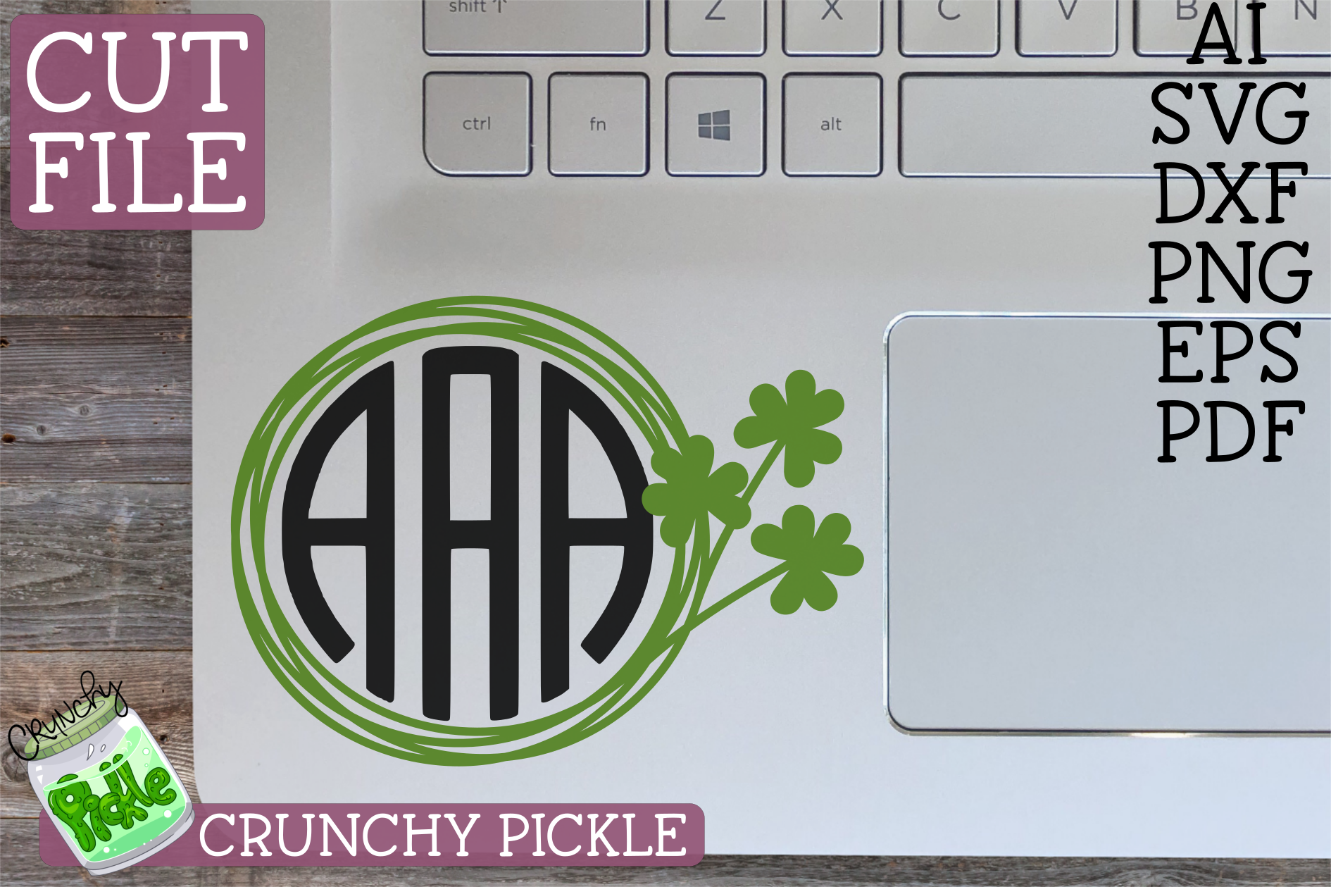 St Paddy Monograms - St Patrick's Day SVG File Bundle example image 3