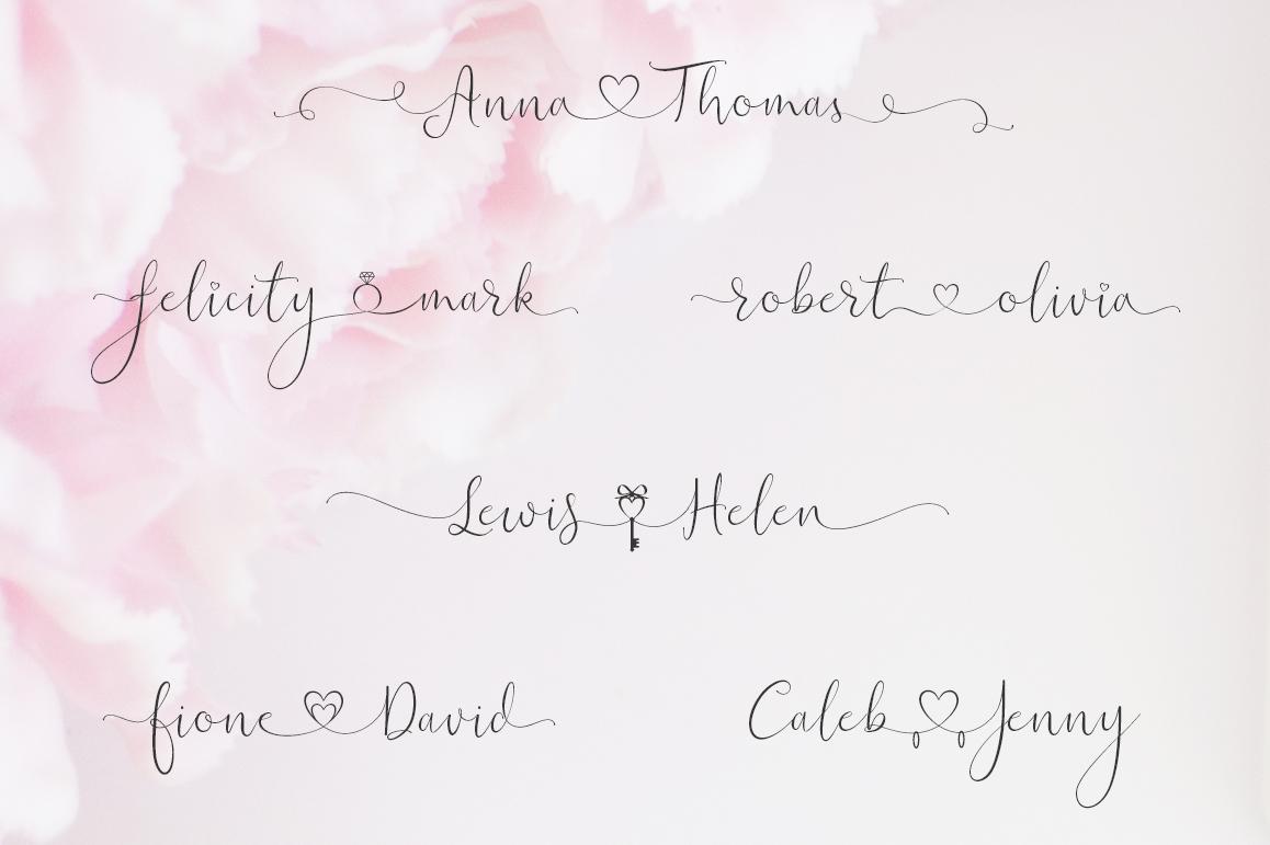 iHeart it wedding font example image 4