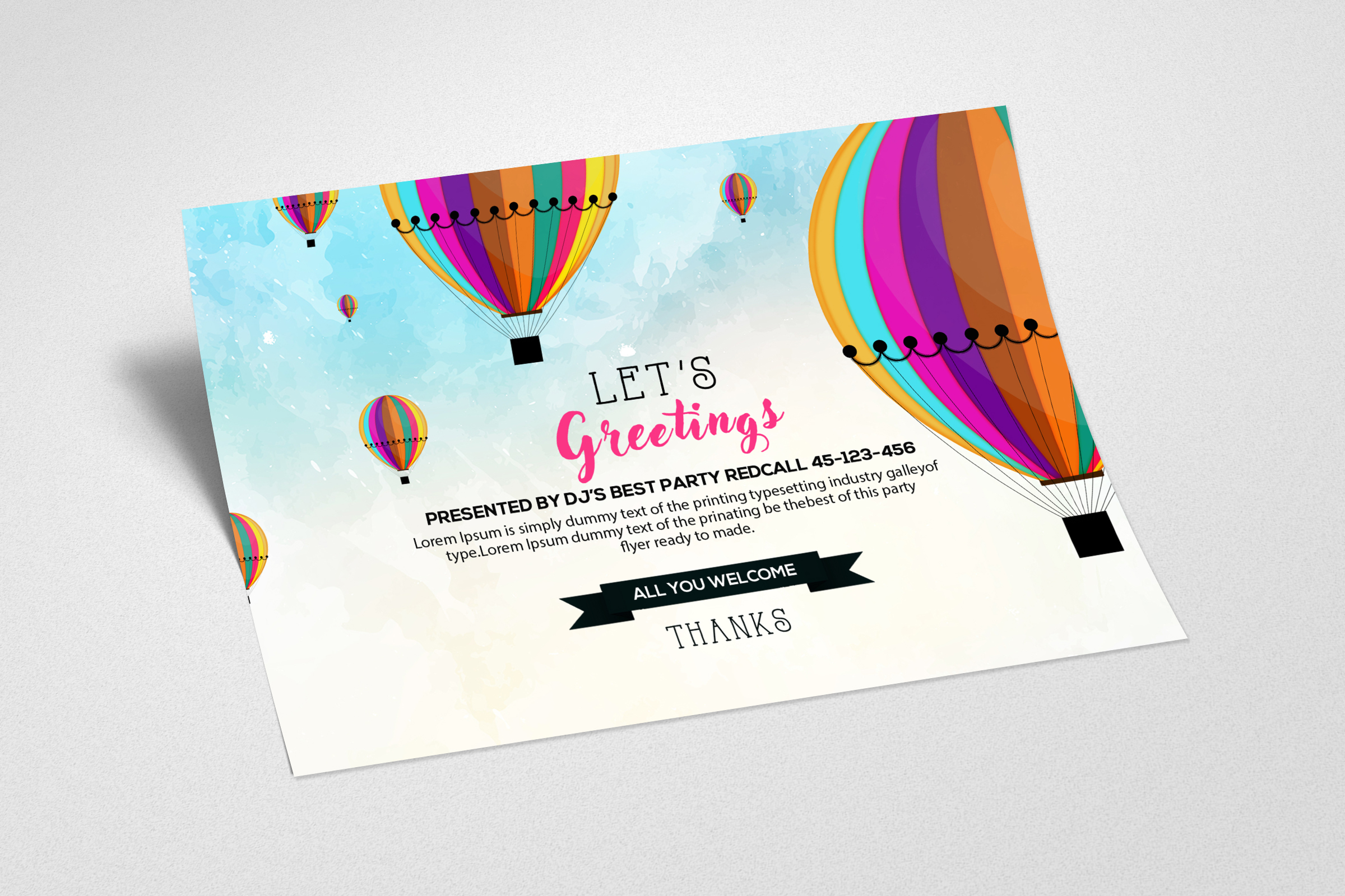 Greeting Card Template example image 2