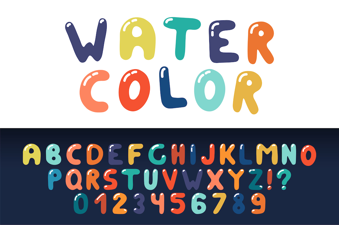Colorful hand drawn english alphabet example image 1