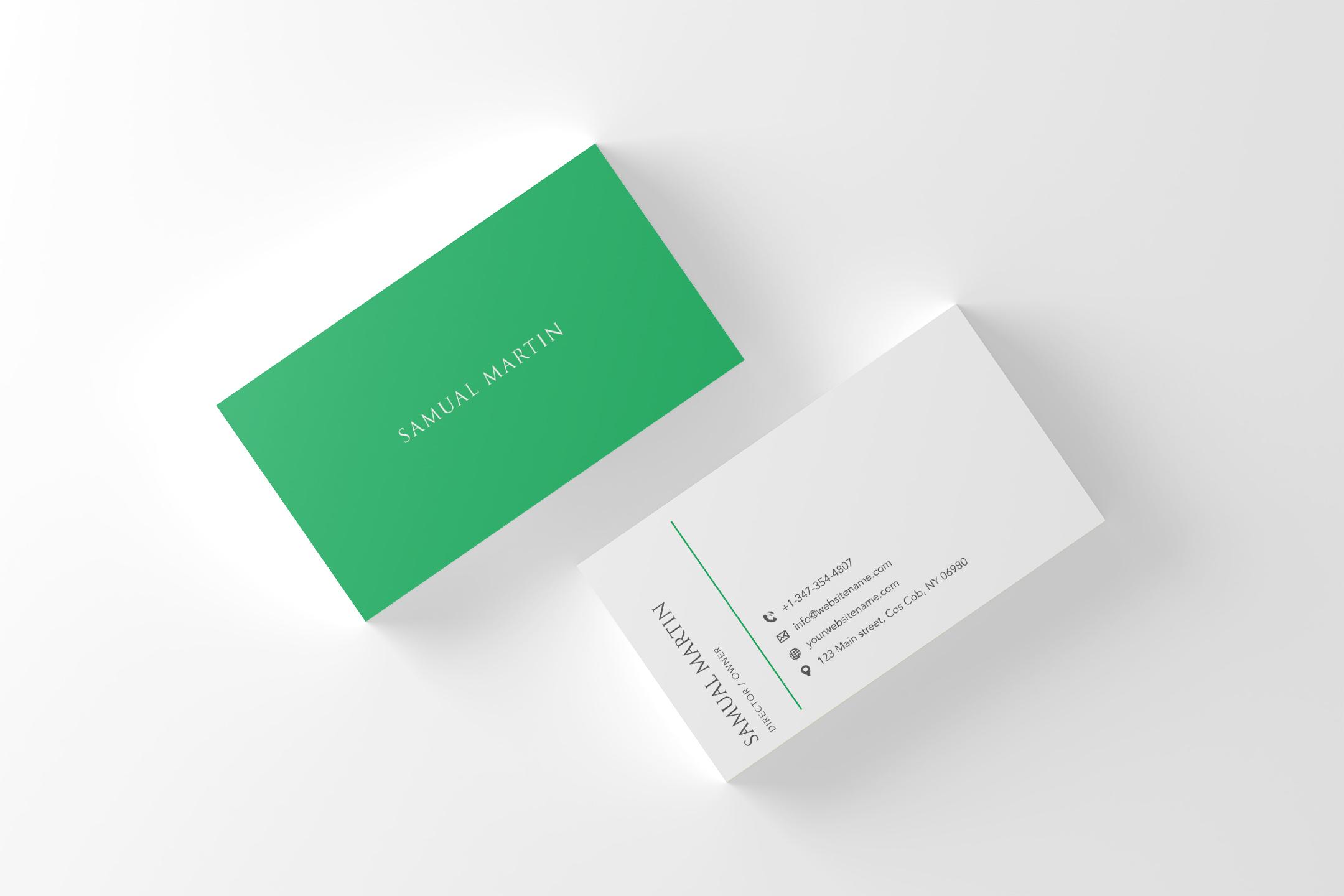 beautiful simple classy modern business card