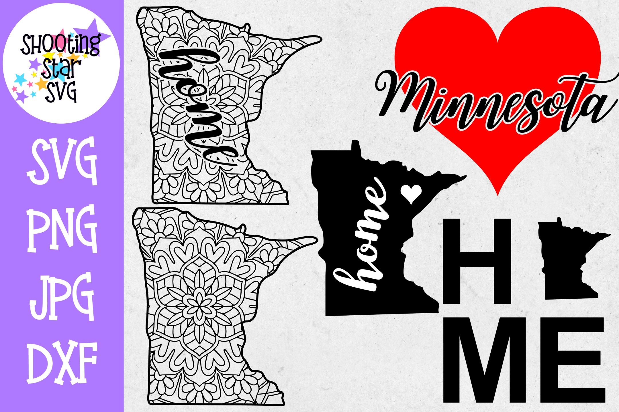 Minnesota US State SVG Decal Bundle - 50 States SVG example image 1