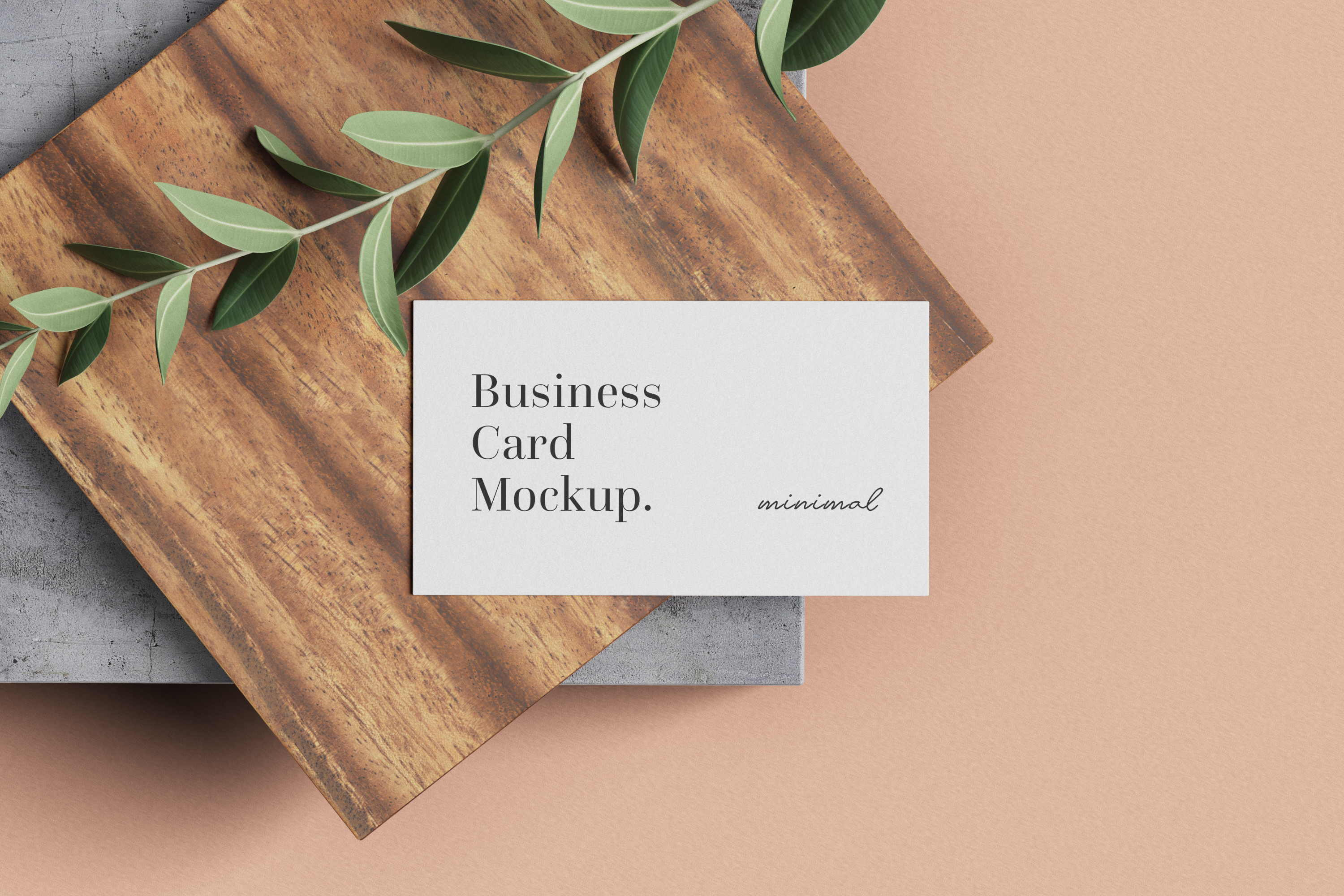 Modern Business Card Mockup example image 3