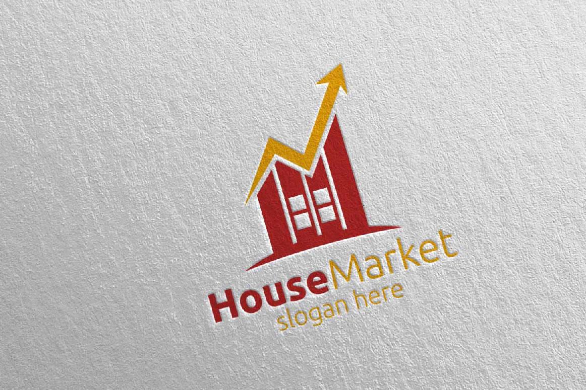 Real Estate Marketing Financial Advisor Logo Design 22 example image 2