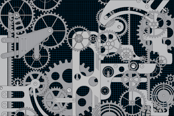 Set of vector gears example image 4