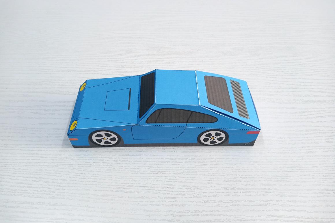 DIY Porsche Car favor - 3d papercraft example image 10