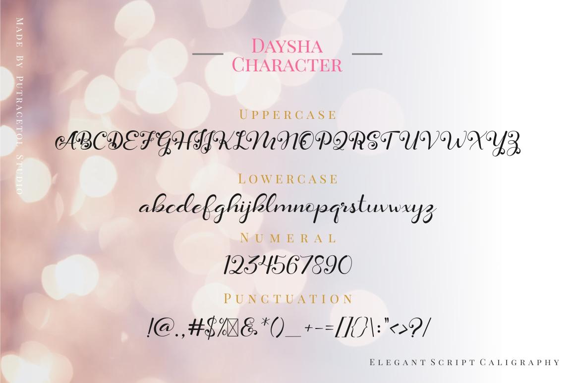 Daysha - Wedding Font example image 13