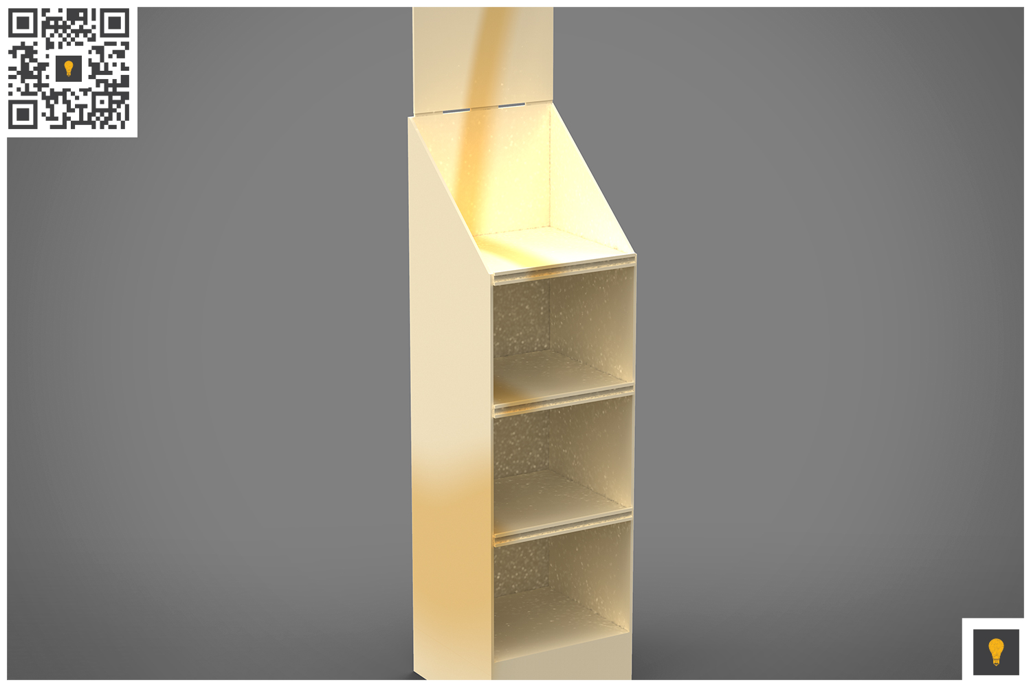 Promotional Store Shelf Stand 3D Render example image 11