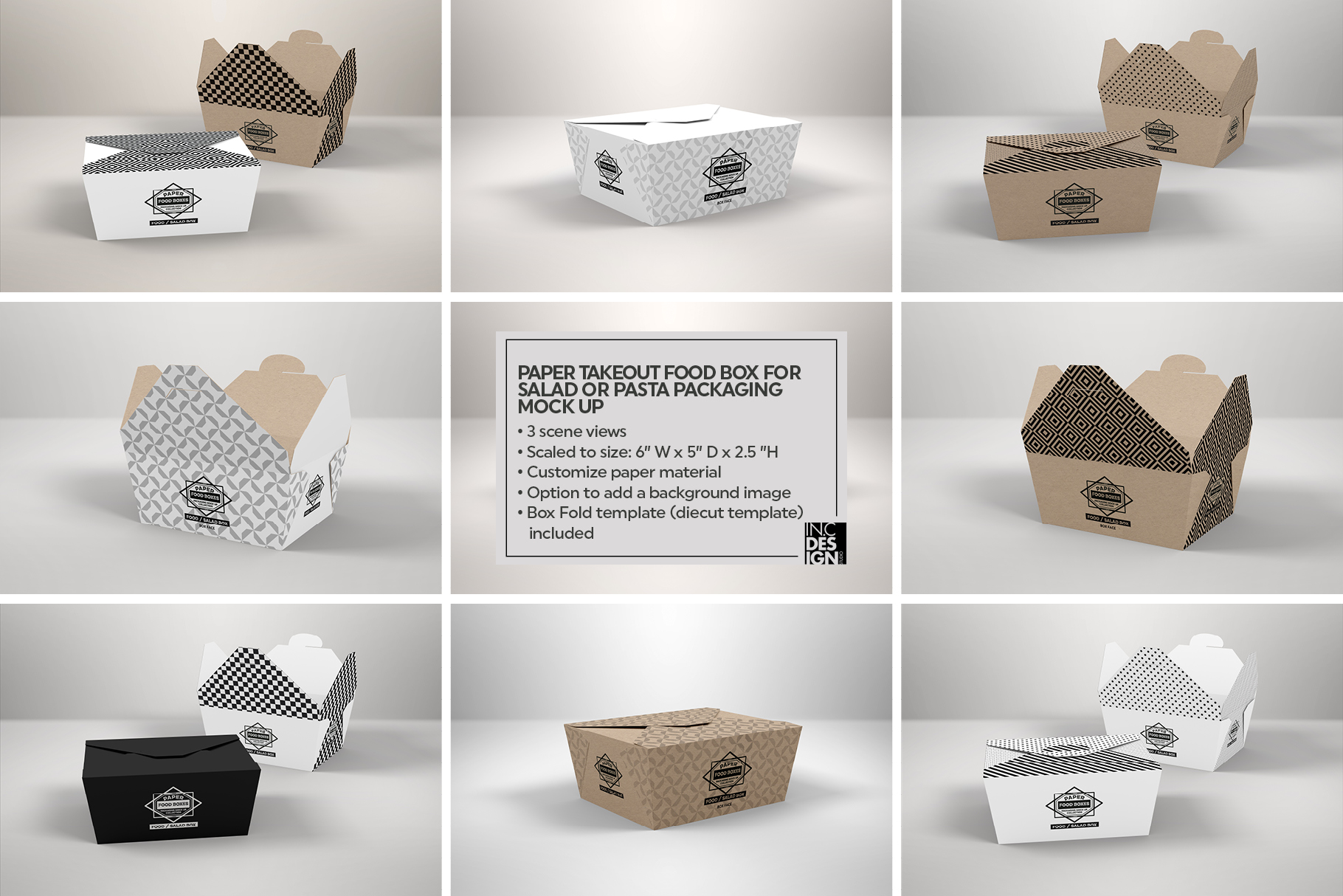 VOL.1 Food Box Packaging MockUps example image 10