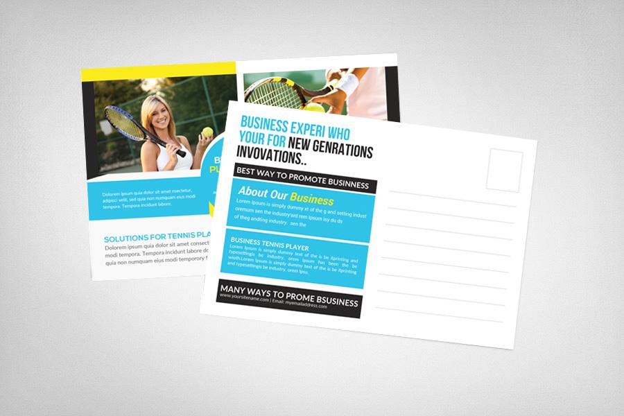 Tennis Game Set Match Postcard example image 2