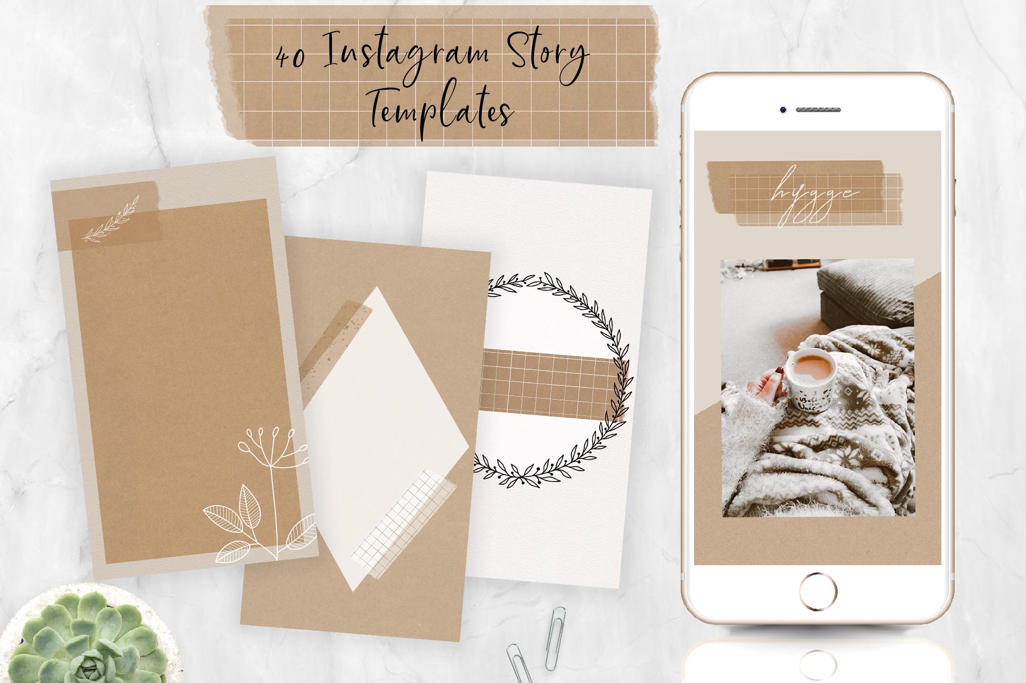 40 Instagram Story Templates | Feminine Style. Social Media example image 1