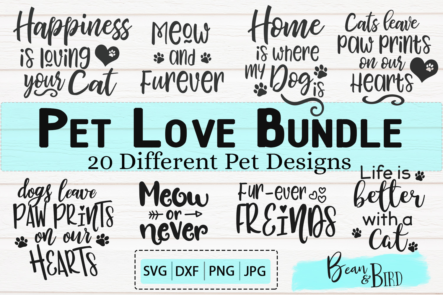 Pet Love Bundle 20 Pet Svg Designs example image 1