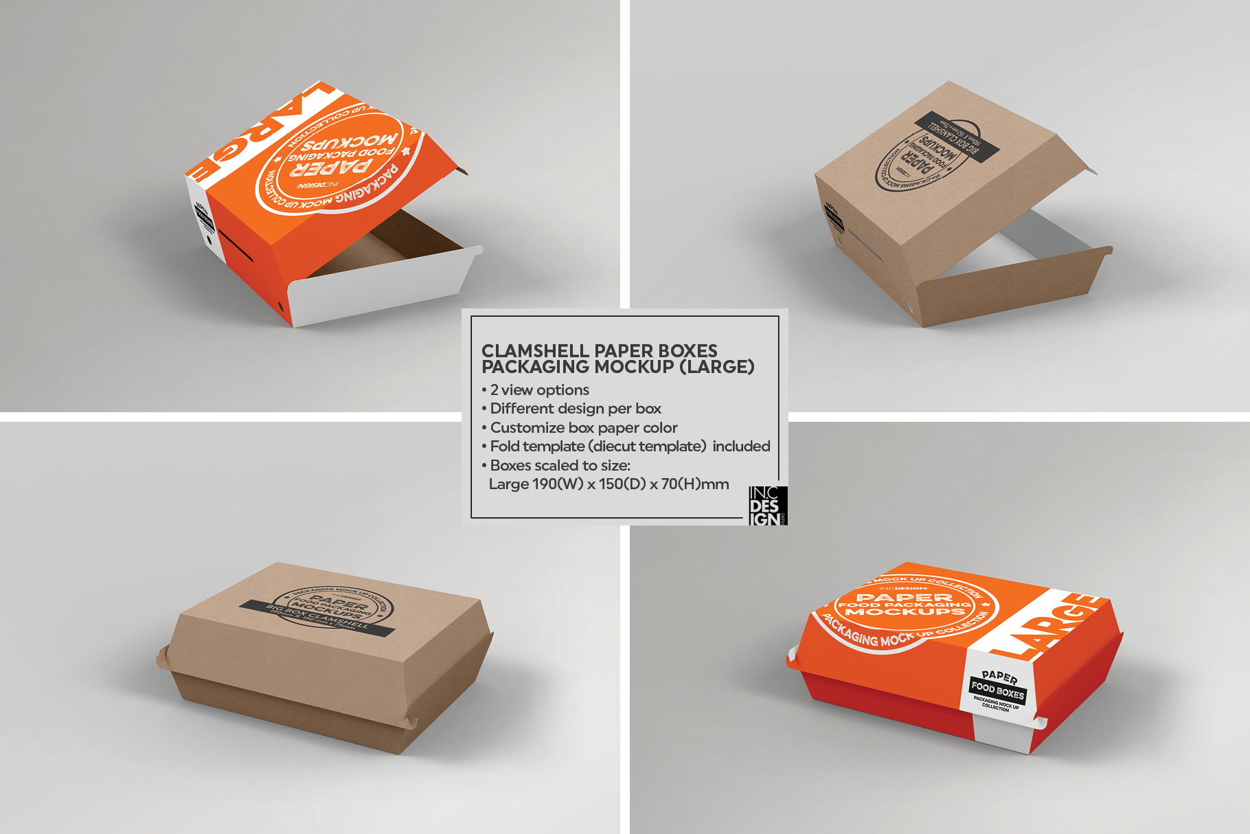 VOL 14 Food Box Packaging MockUps
