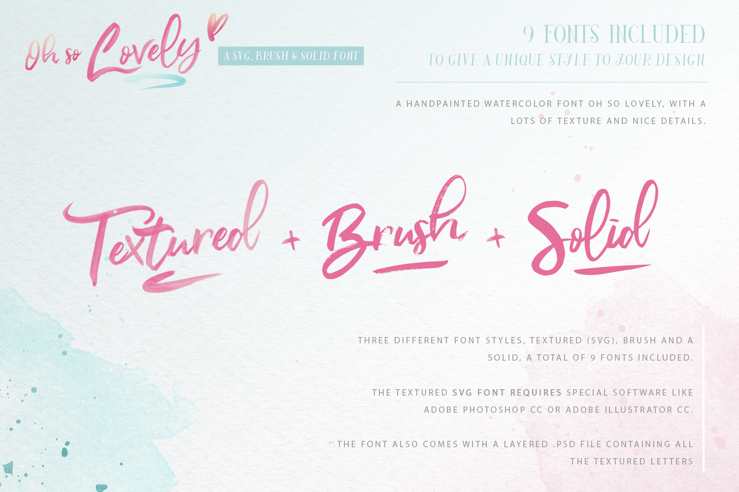 Oh So Lovely Font a SVG Brush font example image 2