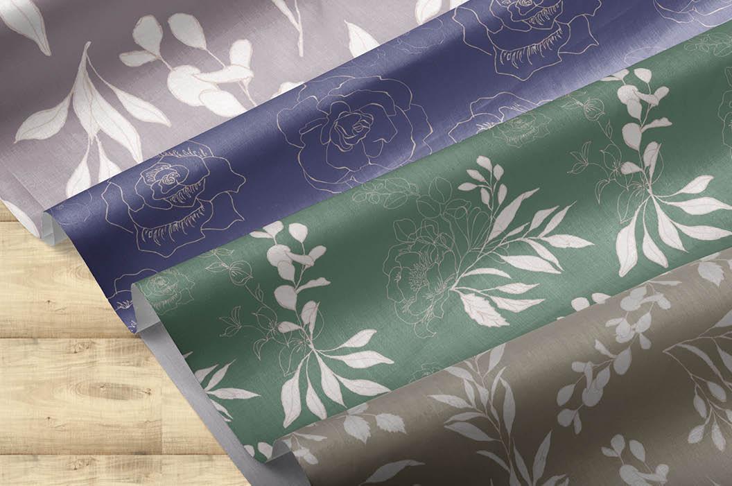 Blush foliage clip art bundle example image 8