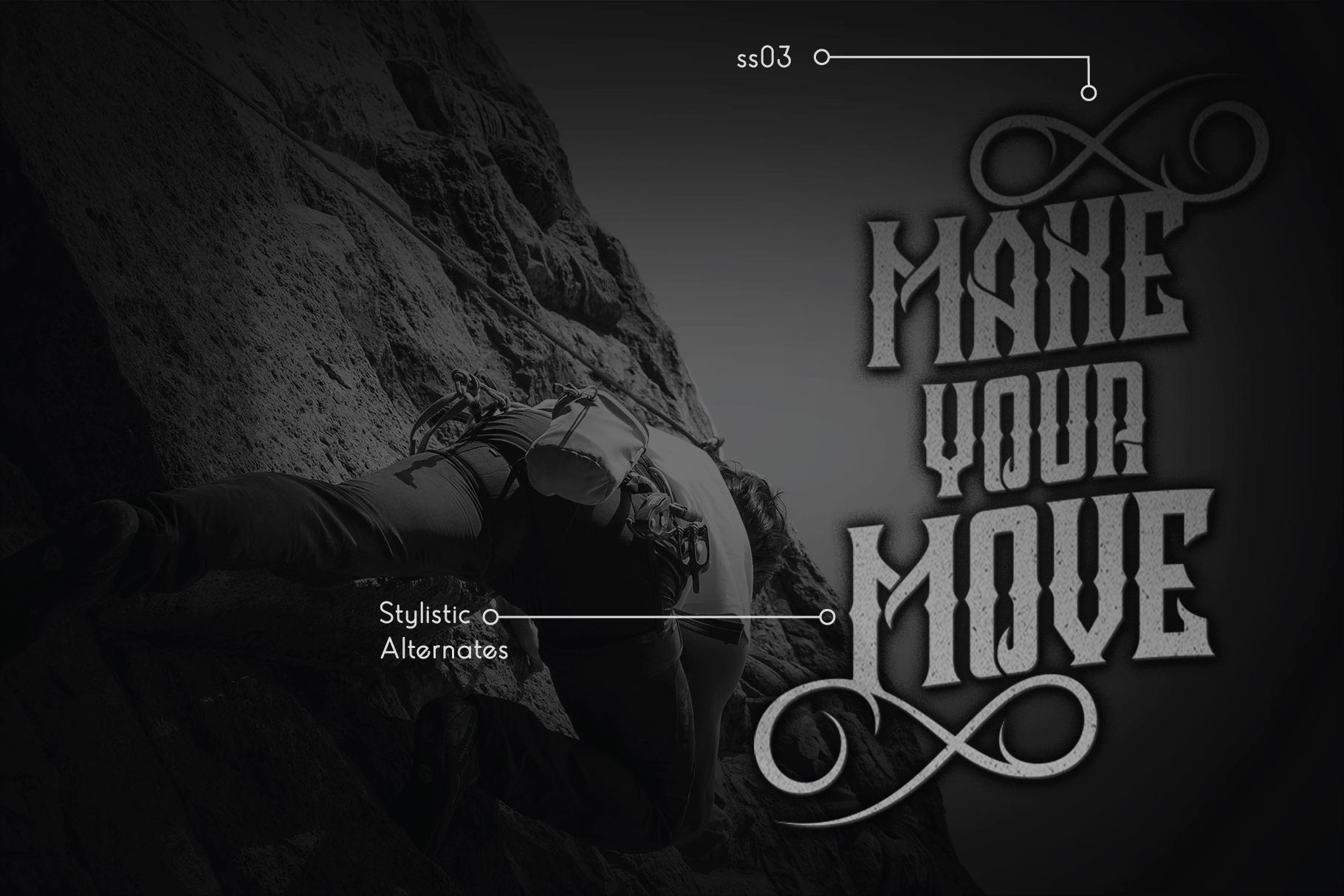 Crozzoe Decorative Serif Typeface example image 4